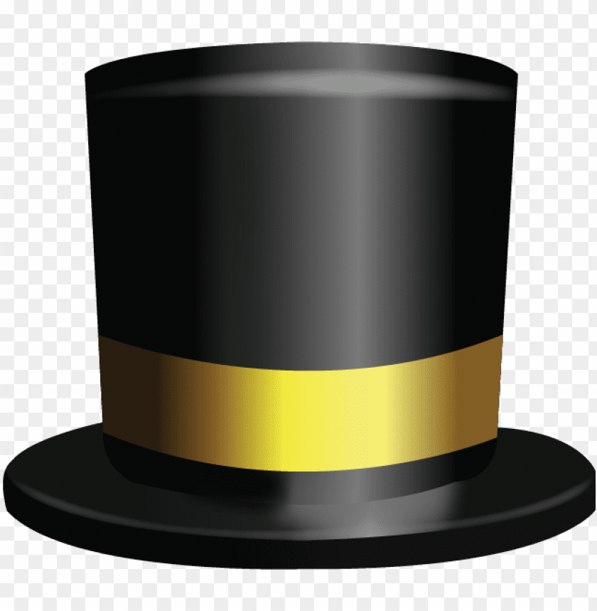 top hat emoji PNG image with transparent background.