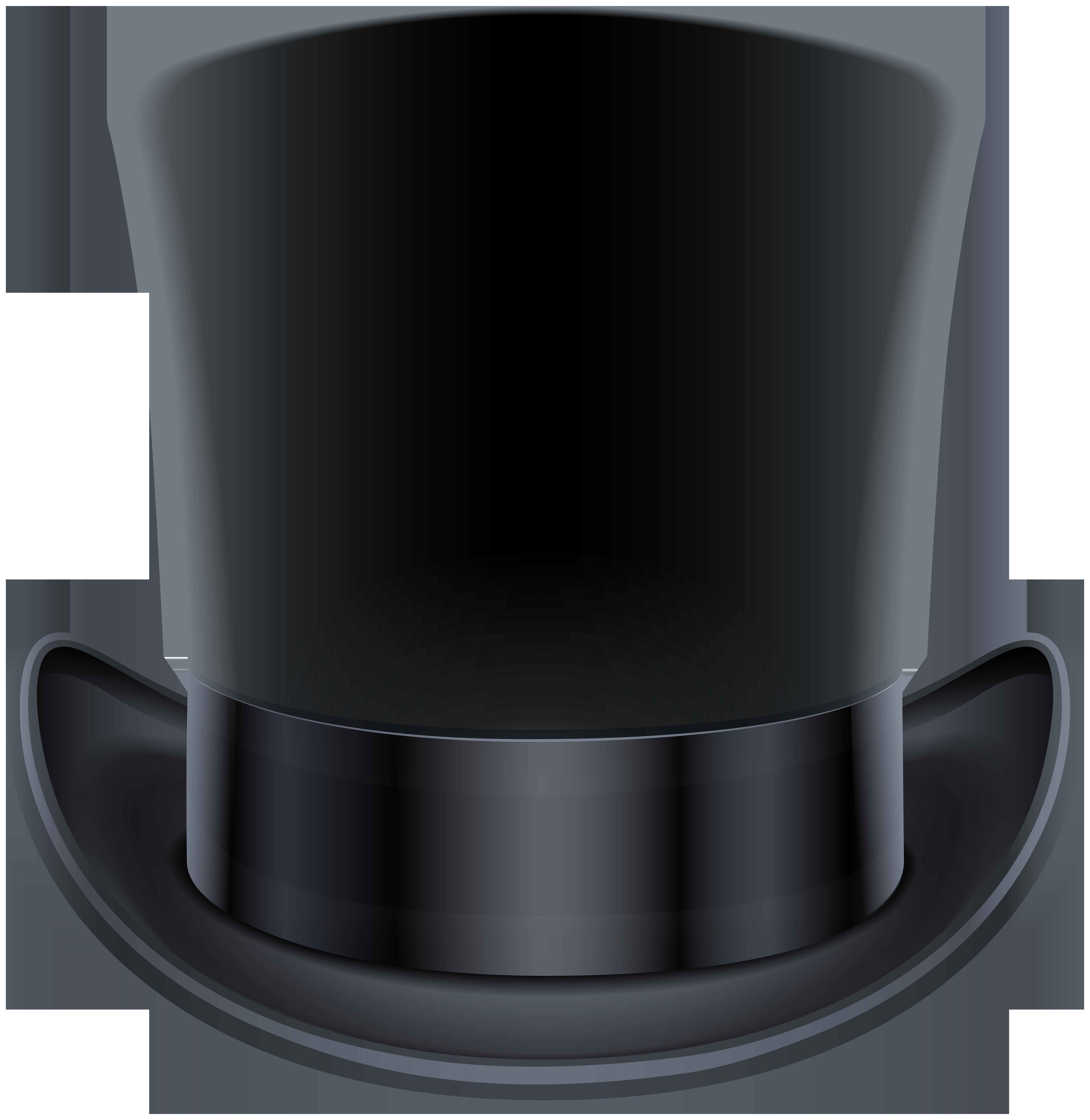 Top Hat Black PNG Clip Art Image.