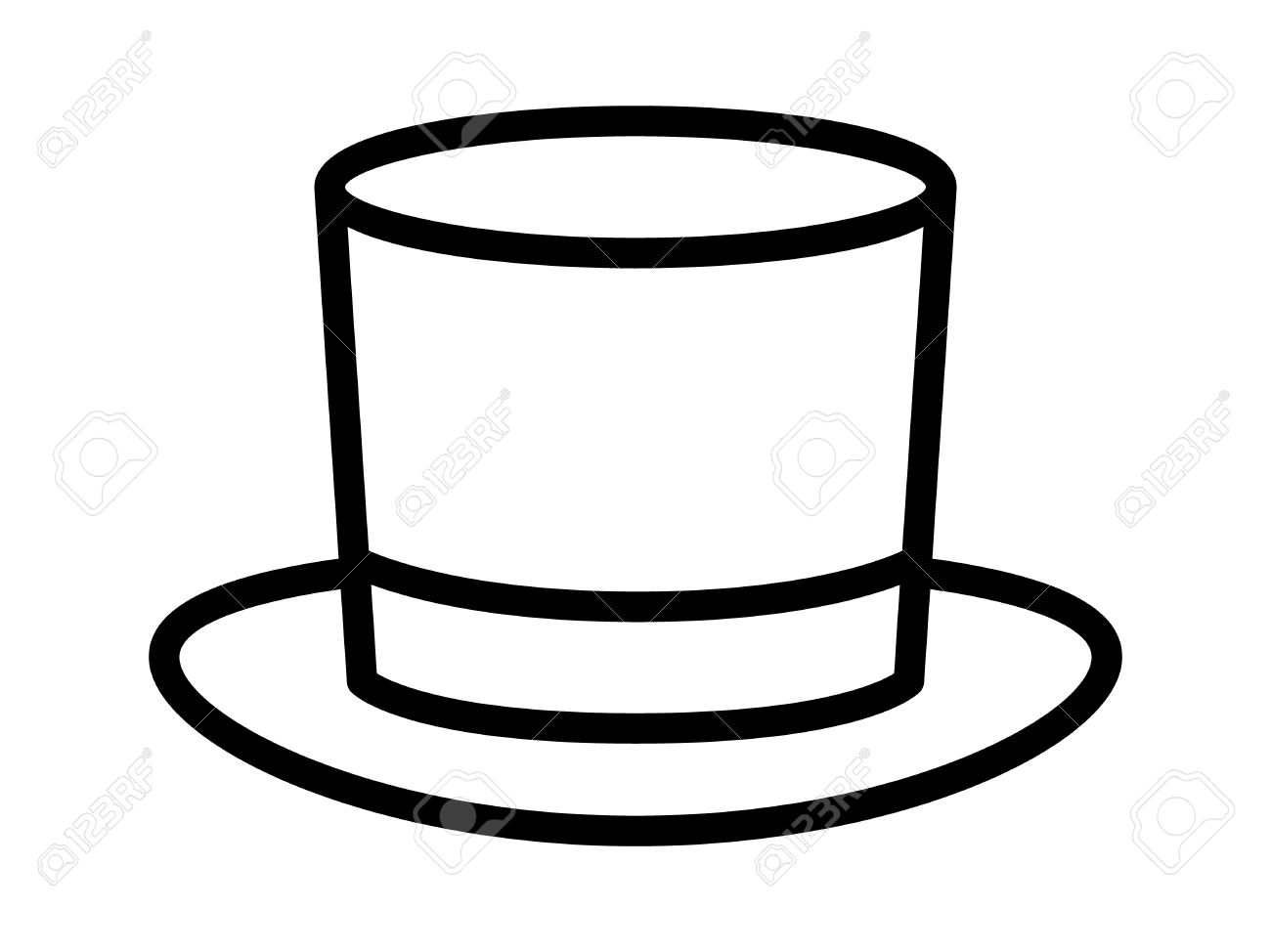 Top Hat Outline 7.
