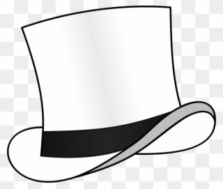 Top Hat Fedora Six Thinking Hats White.