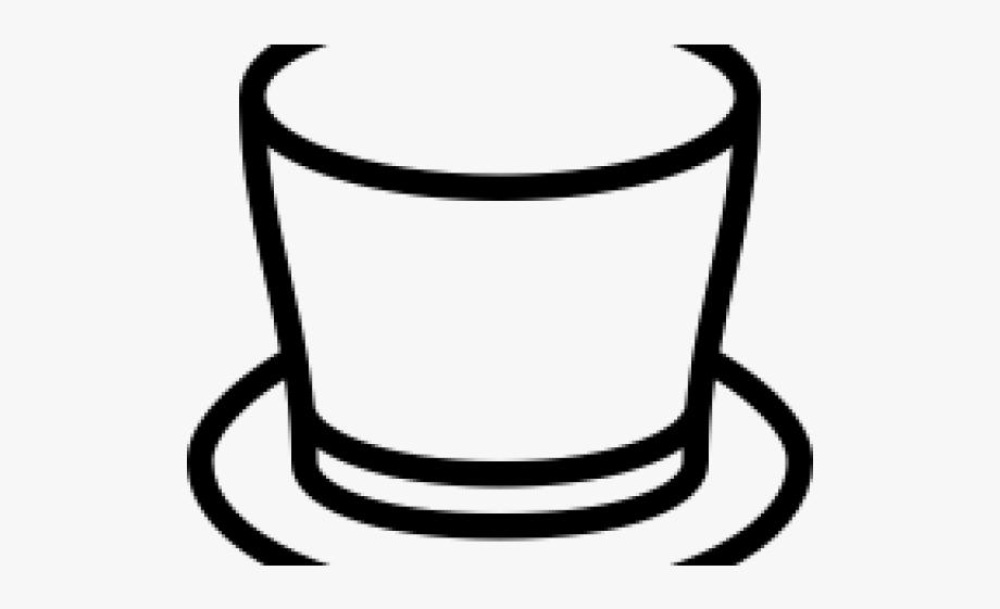 Drawn Top Hat Doodle.