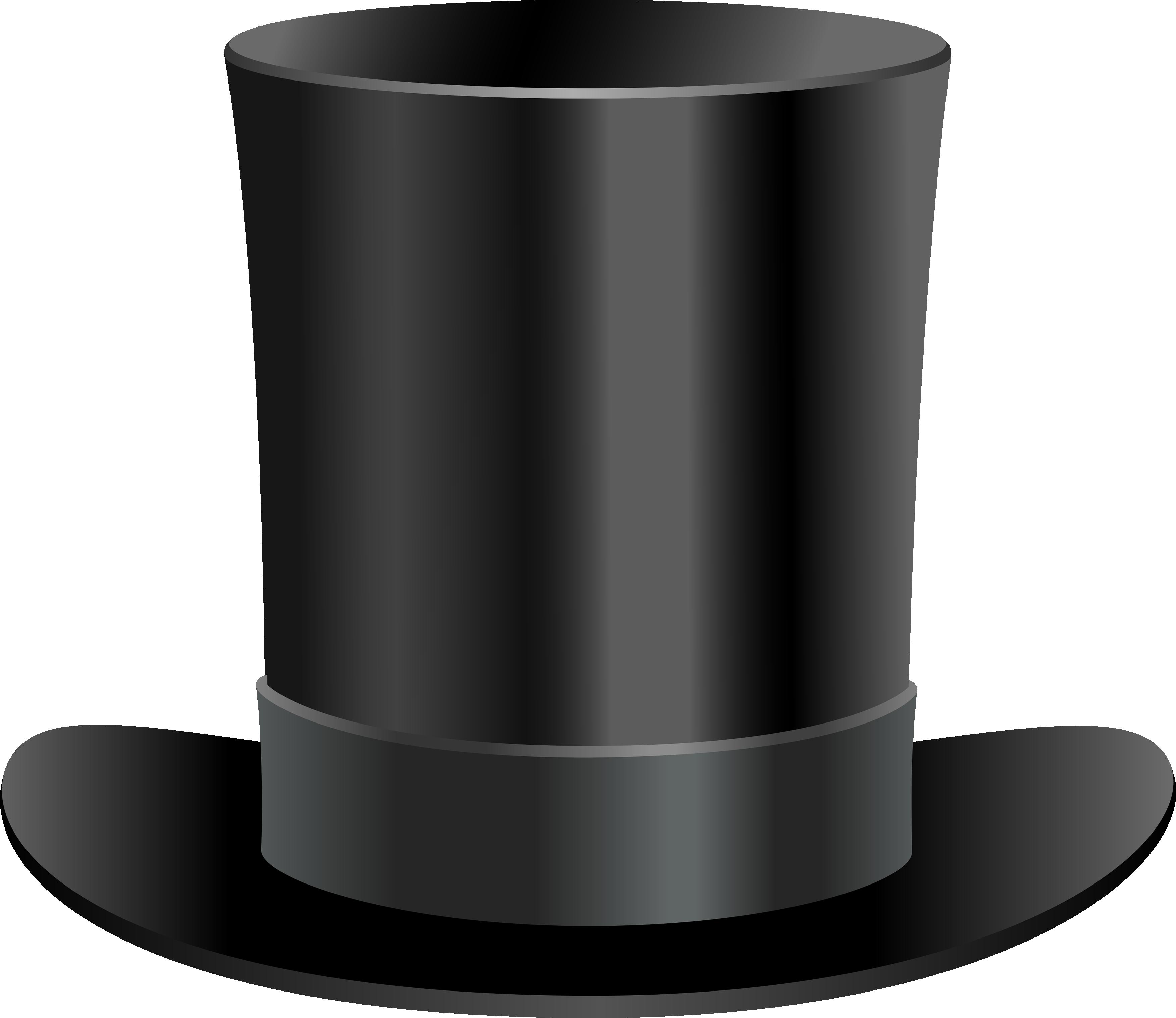 Black Top Hat PNG Image.