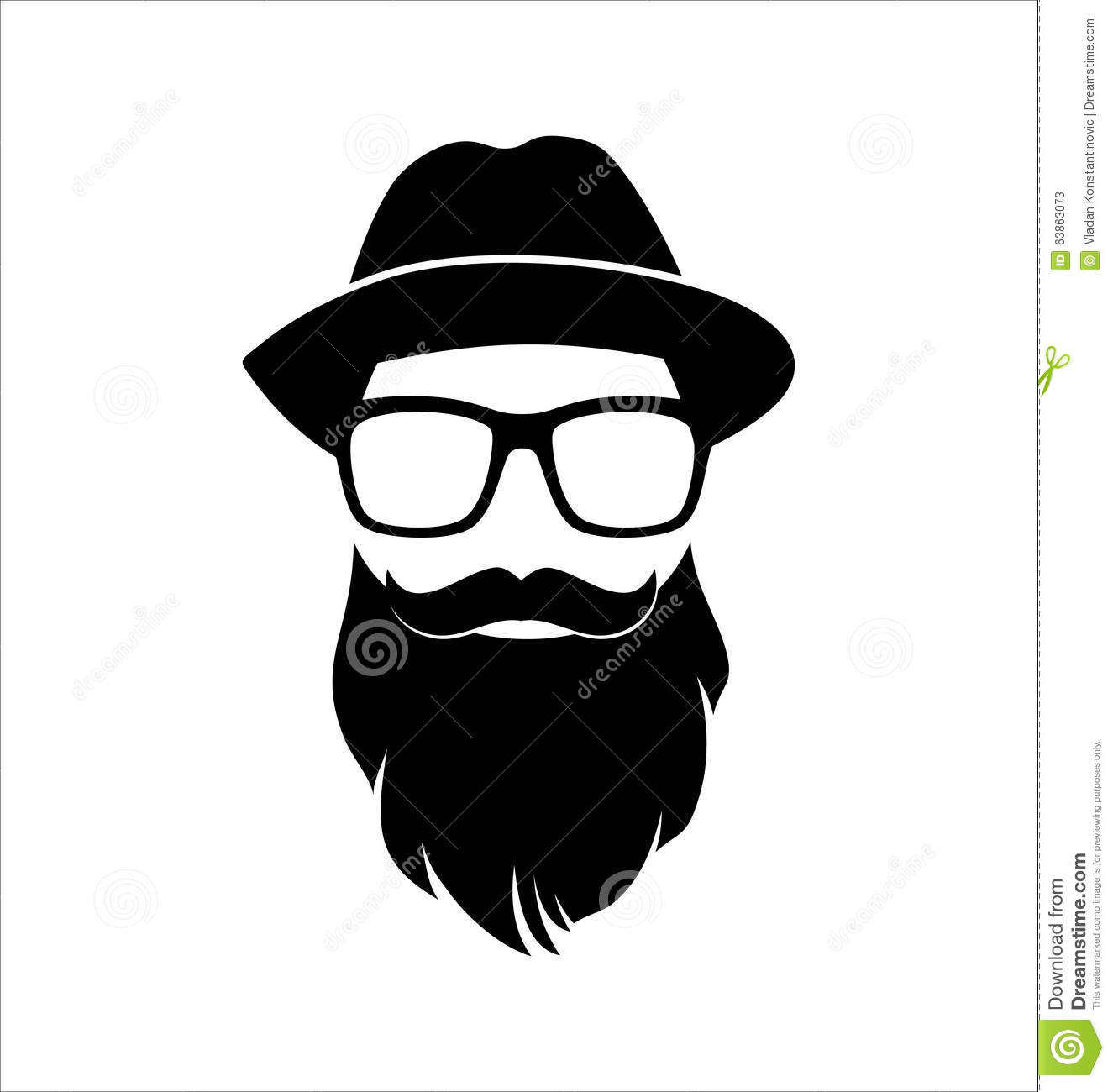 Hipster Black And White. Top Knot Hairstyle. Mustaches. Beard.