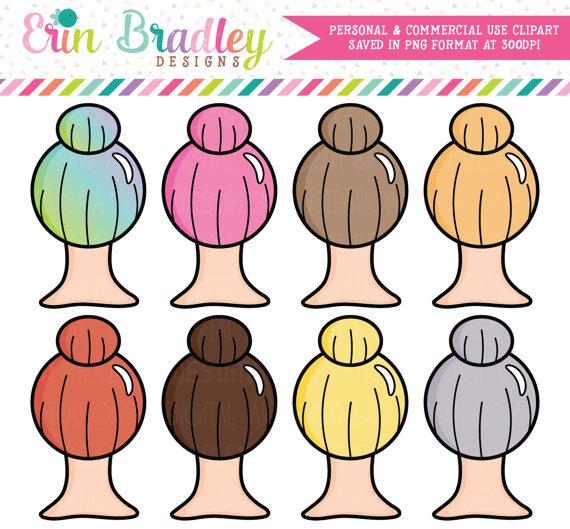 Girl Boss Clipart Top Knot Hair Clipart Graphics Beauty Clip Art.