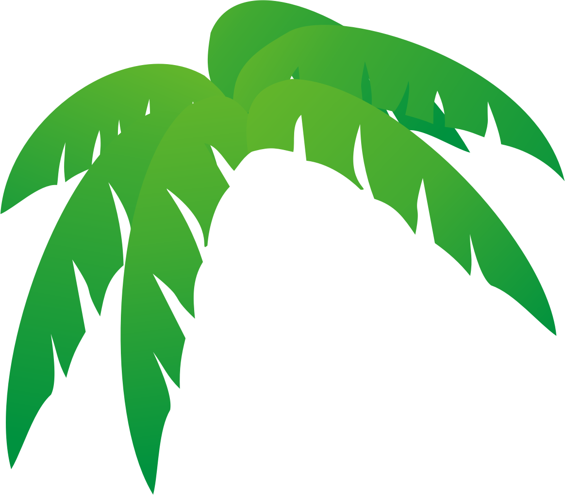 Palm leaves clipart #9