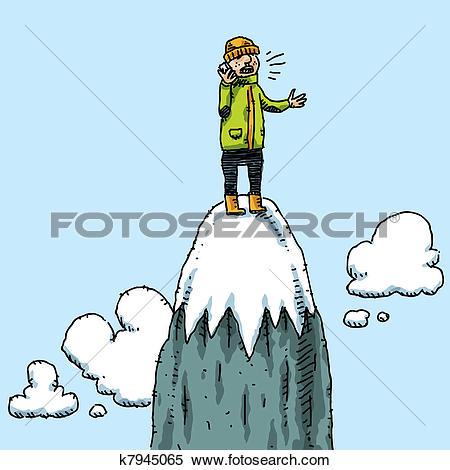 Stock Illustration of Rock climber on mountain k1718956.