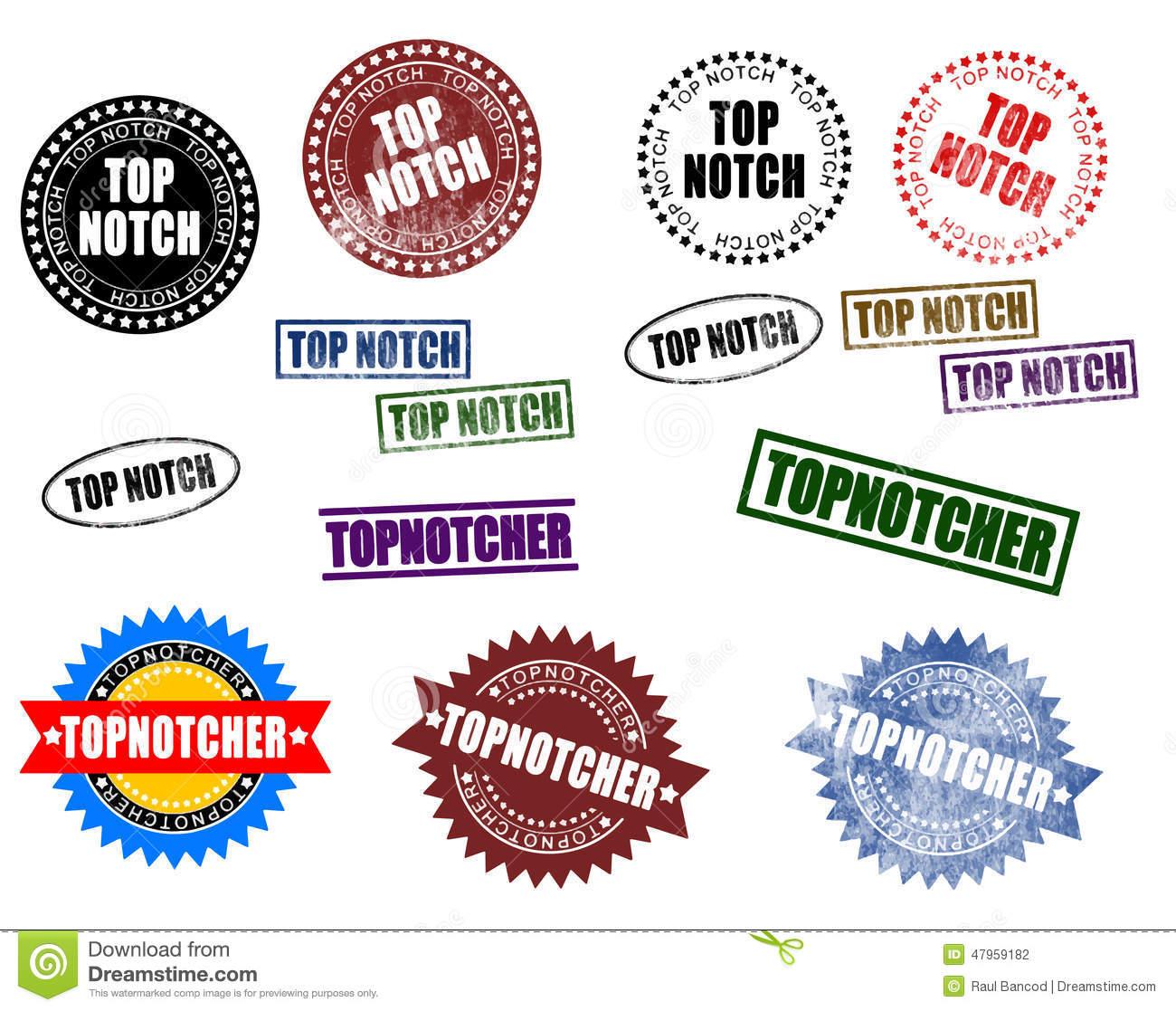 Top Notch Topnotcher (Vector) Stock Vector.