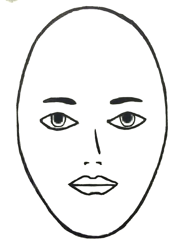 Top of womens head clipart.