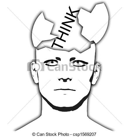 Stock Illustrations of Think Open Top Head.