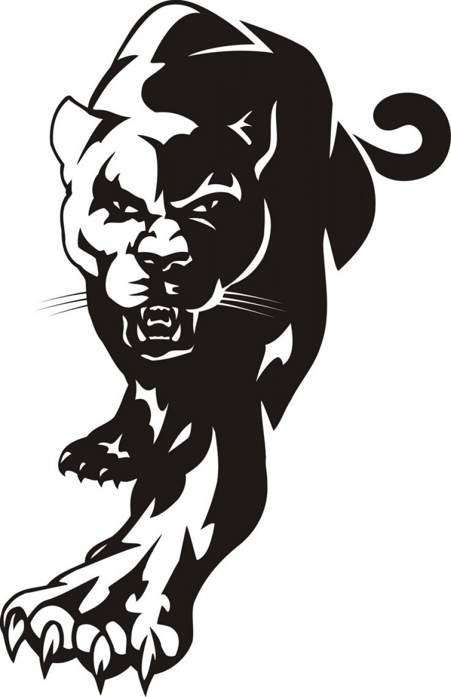 Top Panther Head Clip Art Picture.