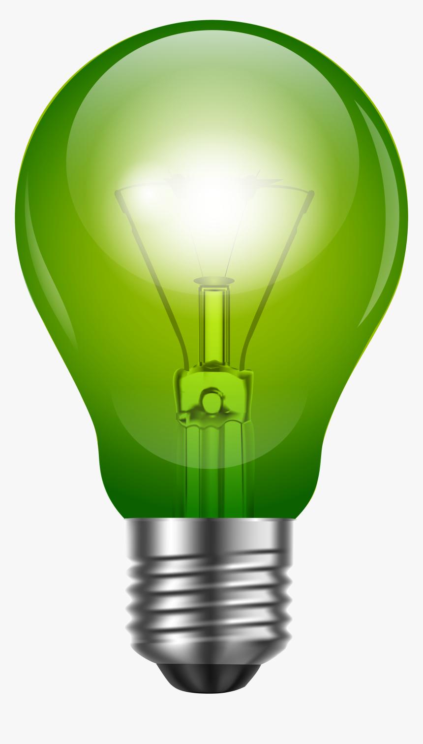 Green Light Bulb Png Clip Art.