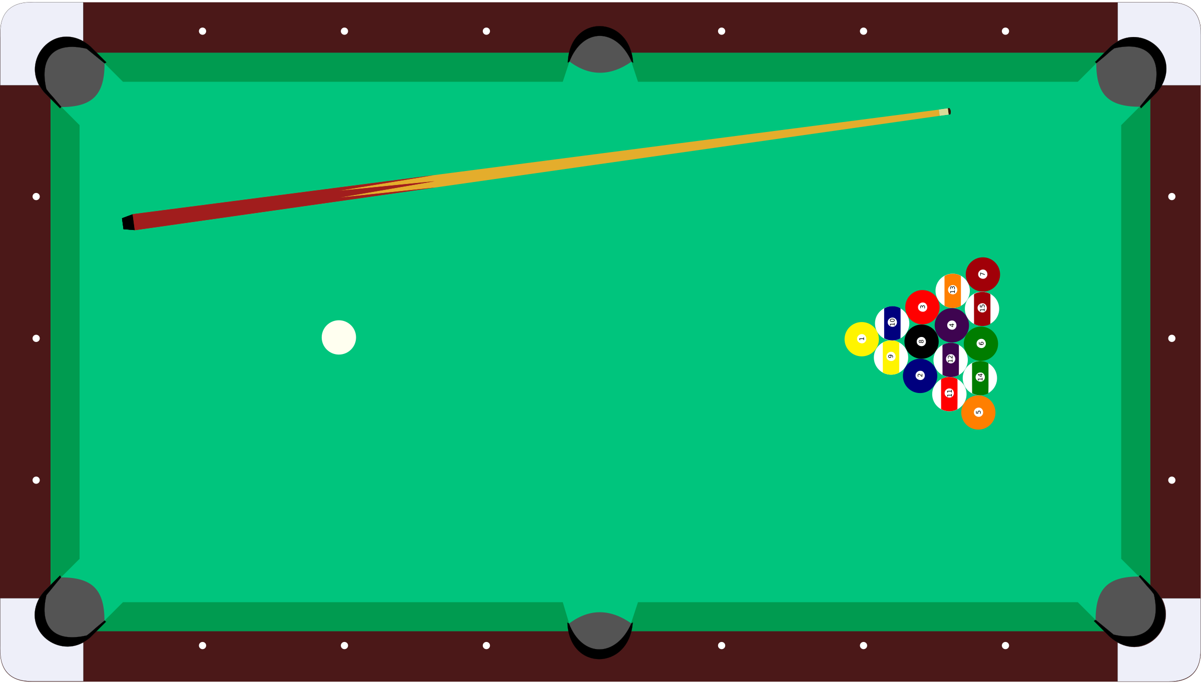 Pool Table Balls Clipart.
