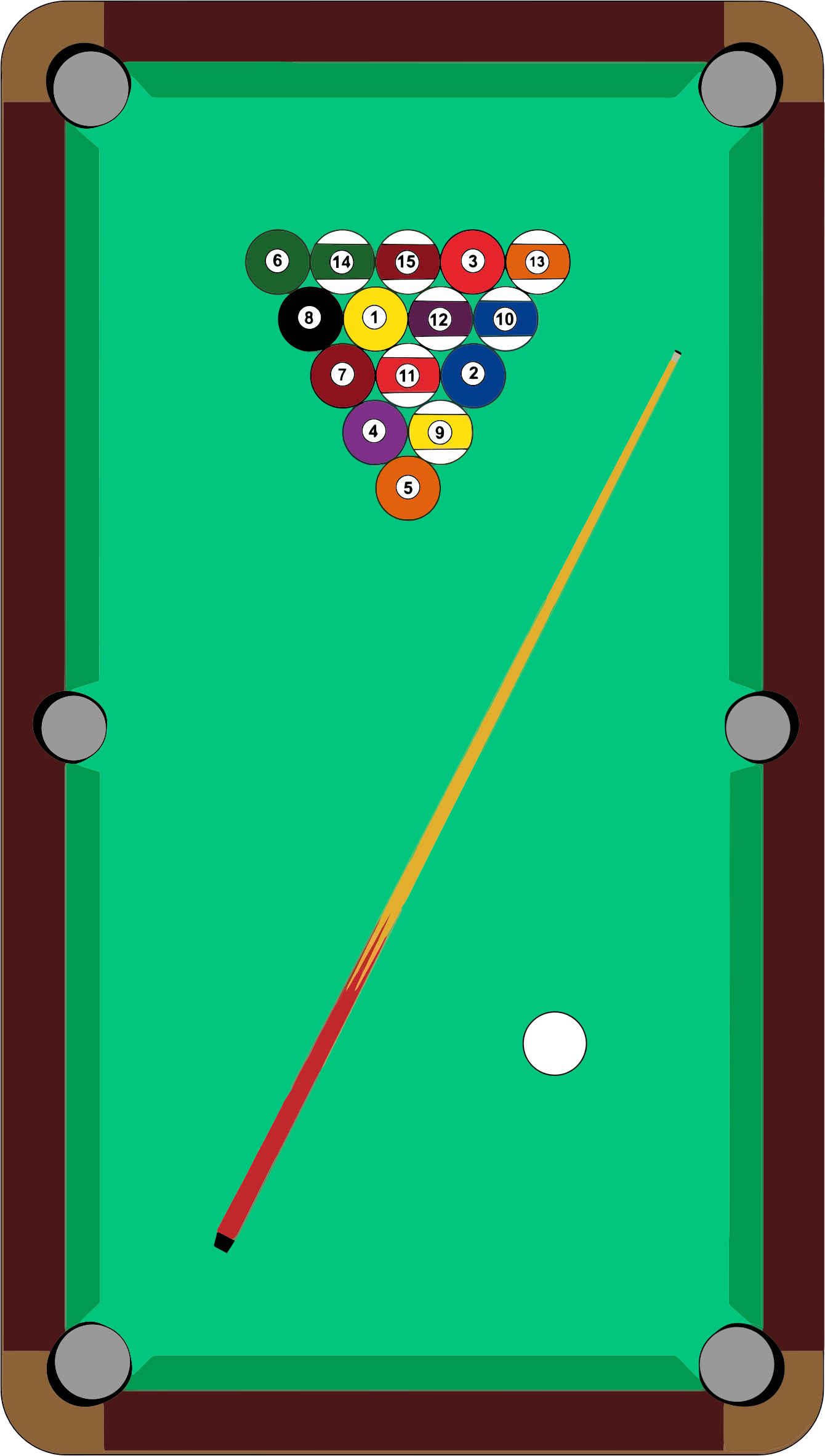 Vector Pool Table Clipart.