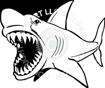 Mean Shark Clip Art.