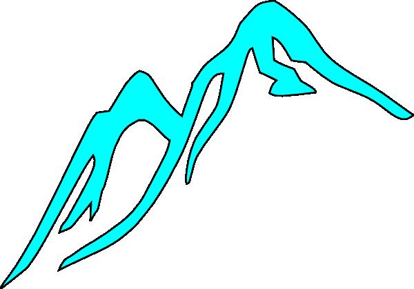 Clip Art Of Snowy Mountain Top Clipart.