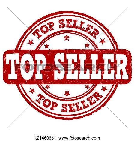 Clipart of Top seller stamp k21460651.