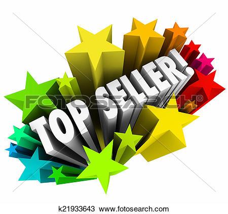Clipart of Best Seller Trophy Top Sales Item Salesperson k12692341.