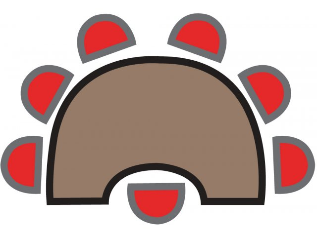 Kidney shaped table clipart.