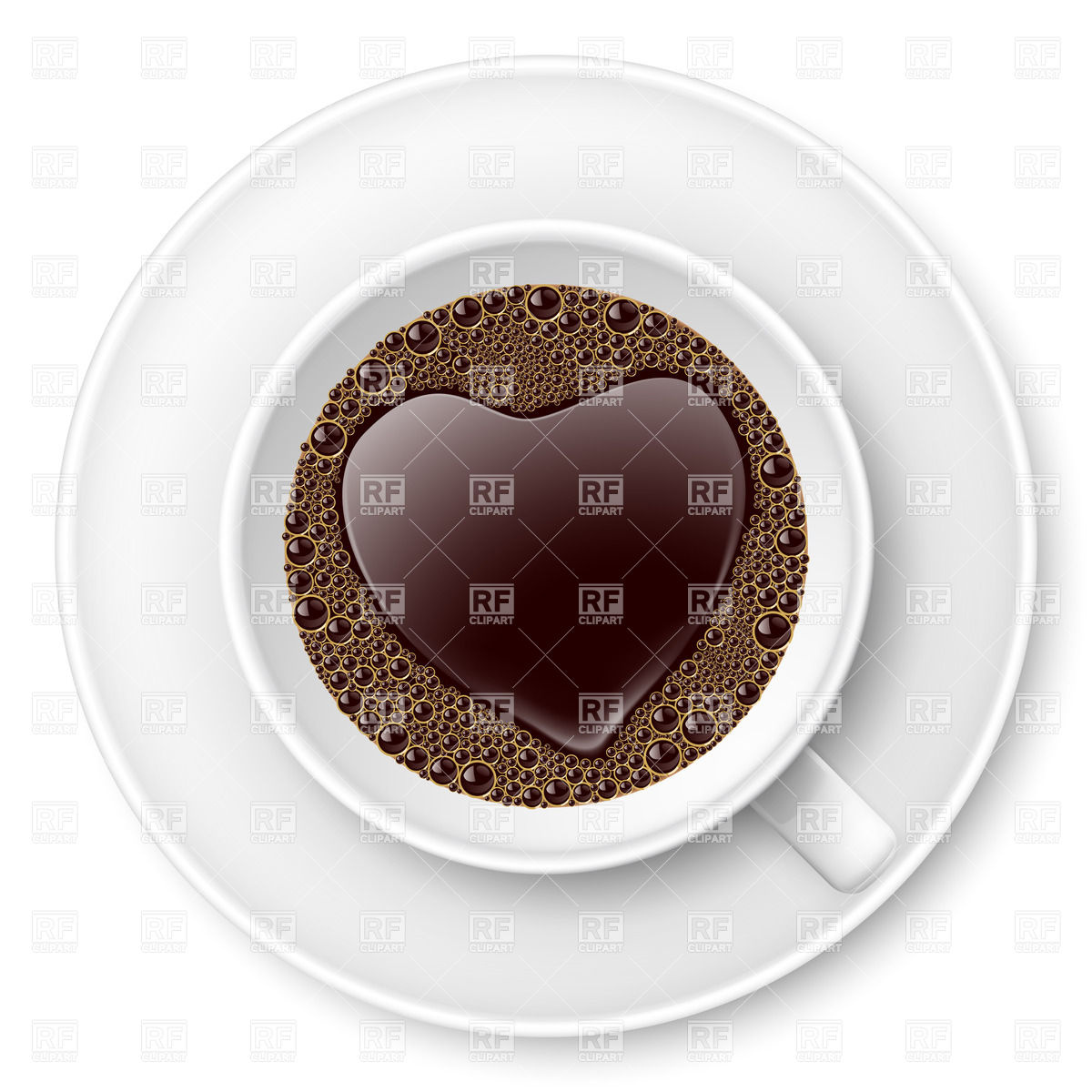Coffee cup with heart.