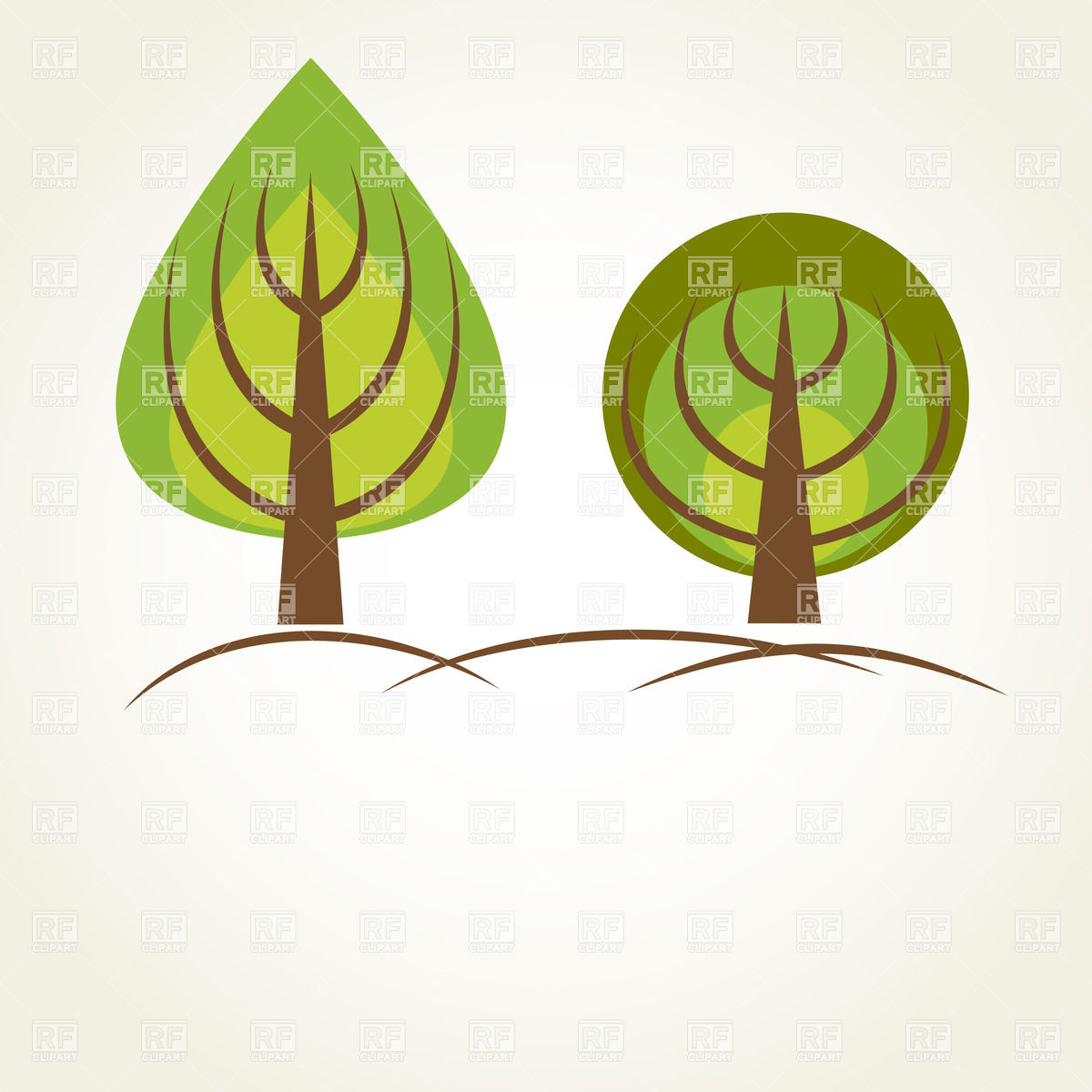 Two simple style trees with drop.