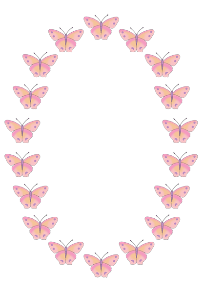 Butterfly Border Clipart.
