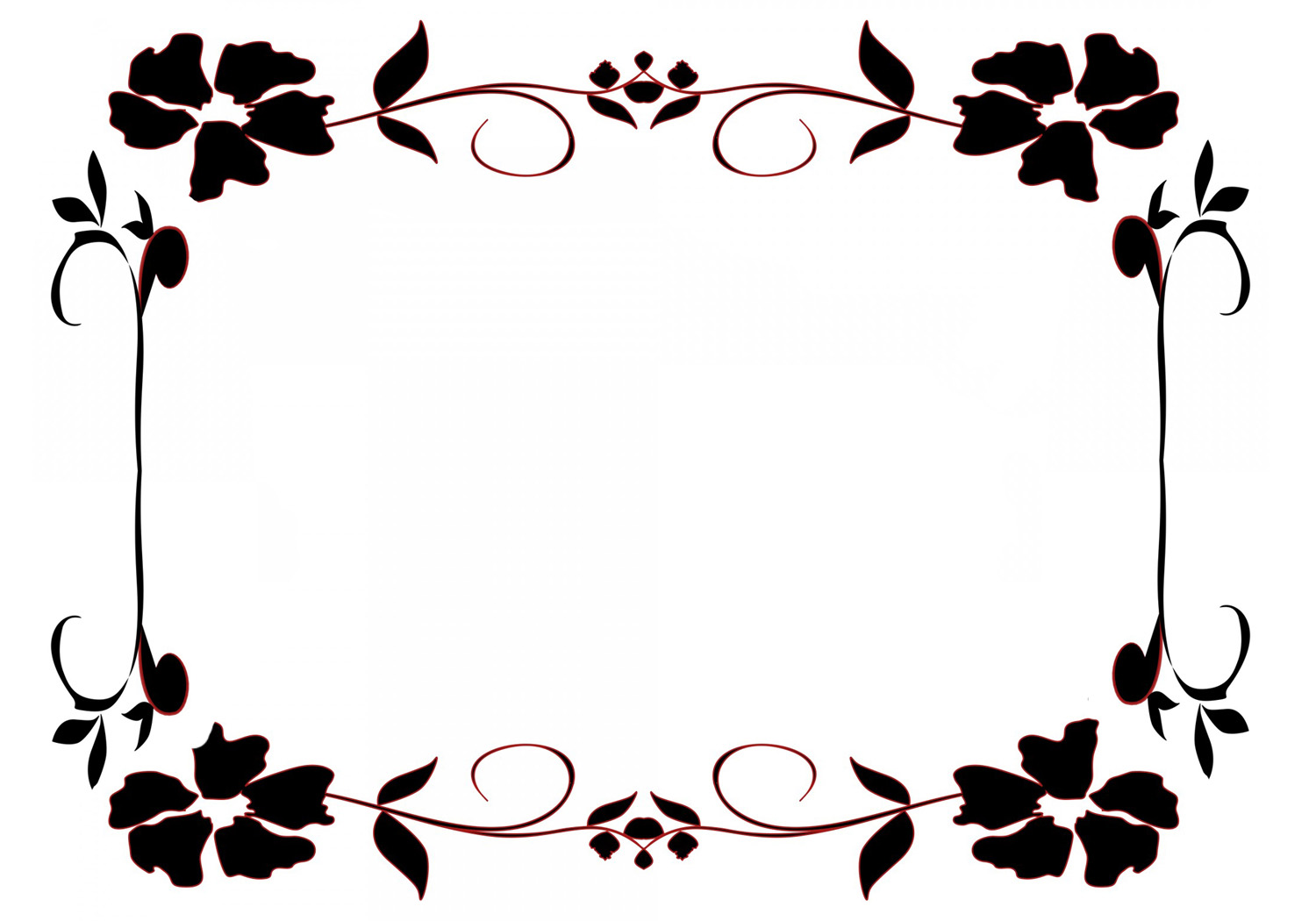 Flower borders and frames.