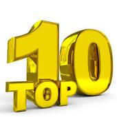 Top Ten List Clip Art.