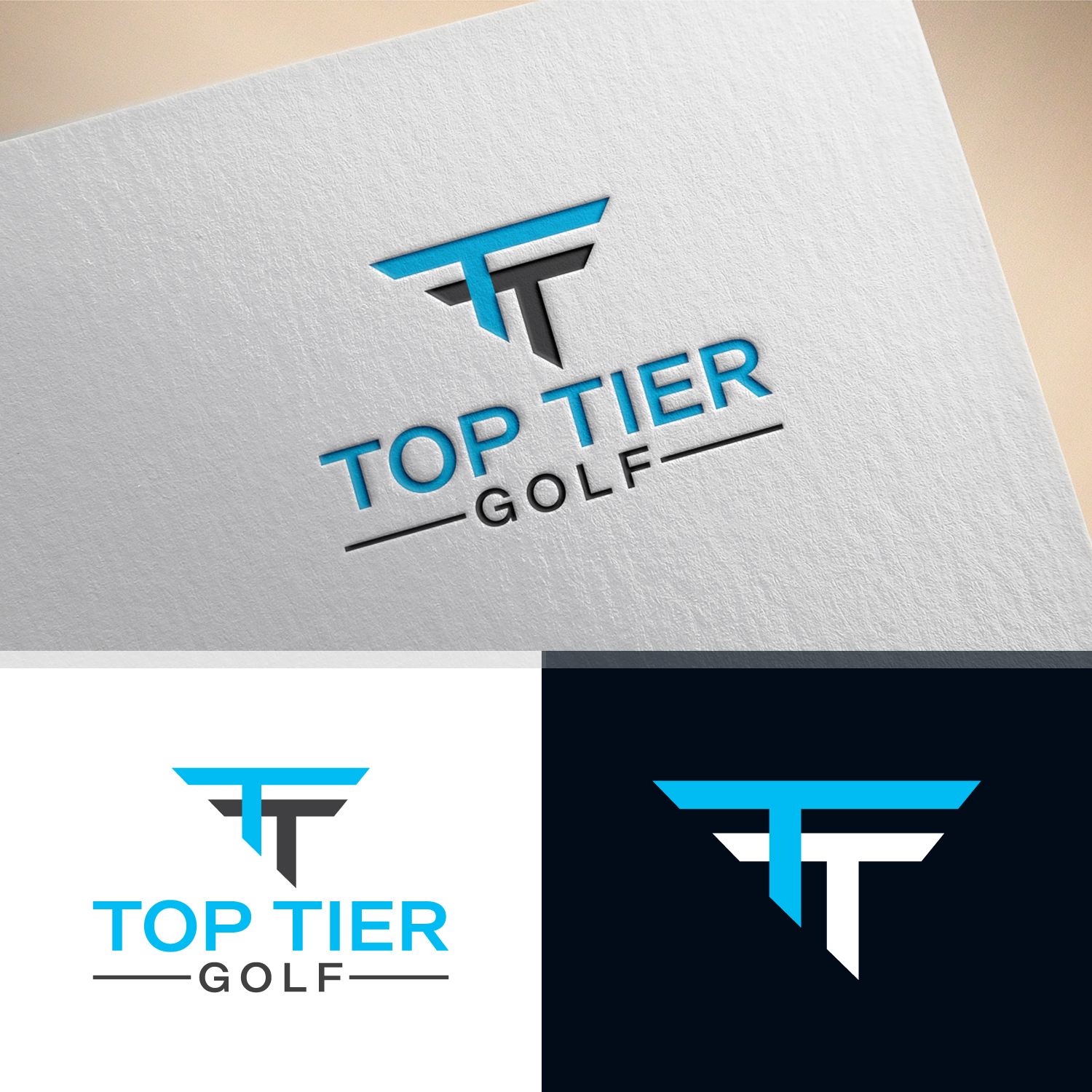 Bold, Modern, Training Logo Design for Top Tier Golf by.