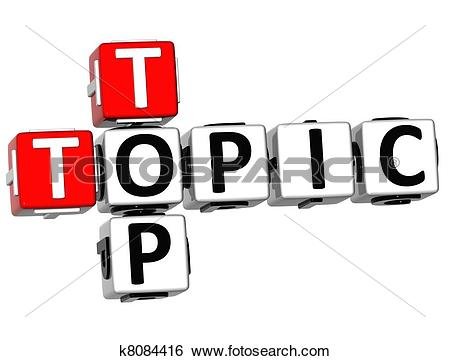 Stock Illustration of 3D Top Topic Crossword k8084416.