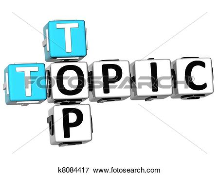 Stock Illustration of 3D Top Topic Crossword k8084417.