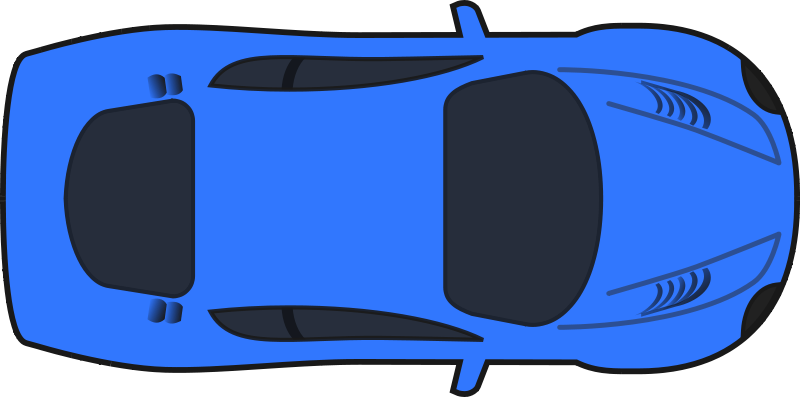 Black Car Top View Png Clipart.