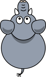 Elephant Top View 2b Clip Art at Clker.com.