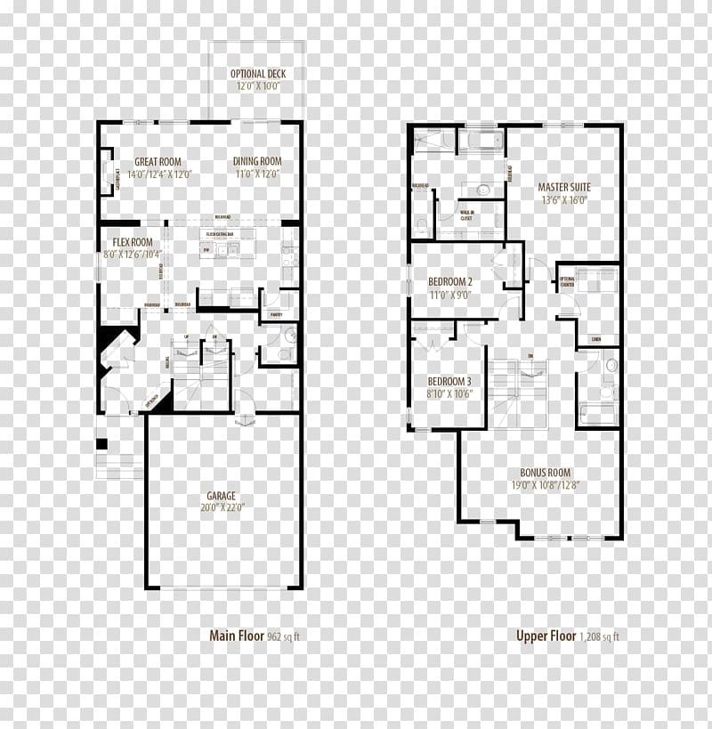 Floor plan House Bedroom Home Garage, house transparent.