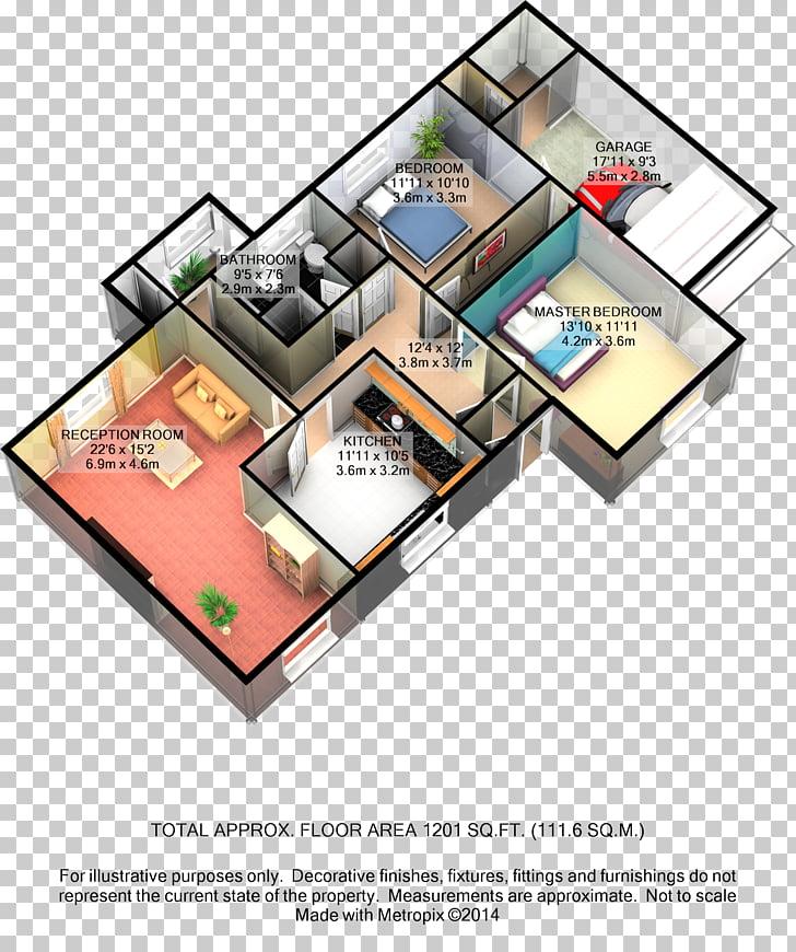 3D floor plan, design PNG clipart.
