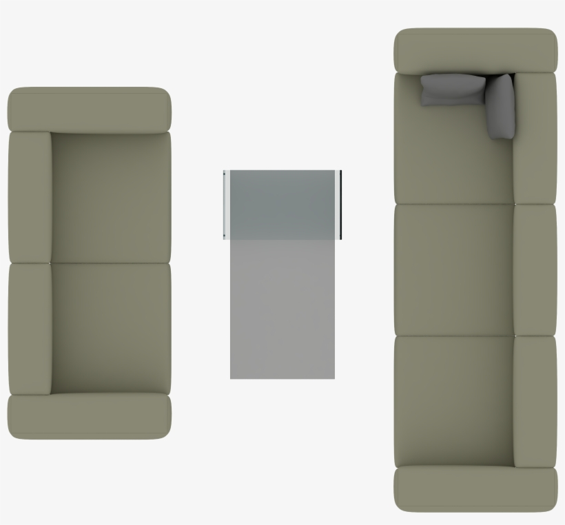 Sofa Top View For Photoshop Transparent PNG.