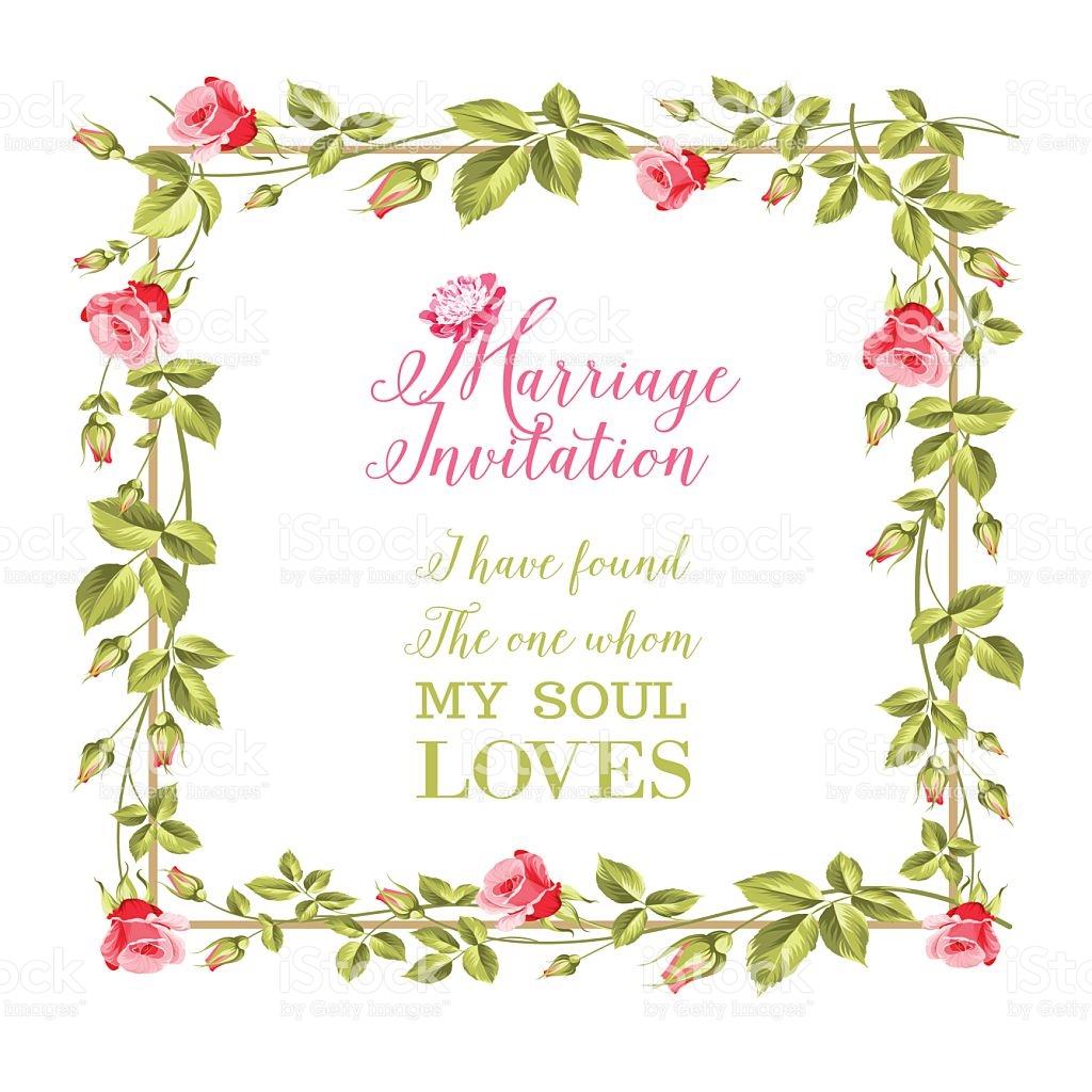 Wedding Flower Frame stock vector art 613907468.