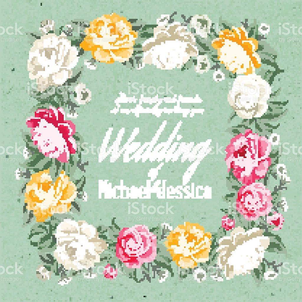 Wedding Invitation Template stock vector art 613907676.
