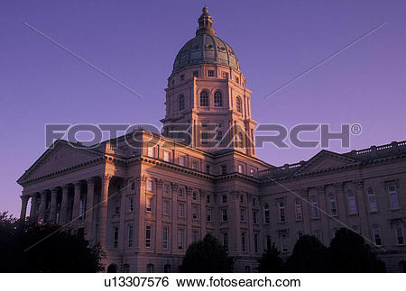 Stock Images of State Capitol, Topeka, State House, KS, Kansas.