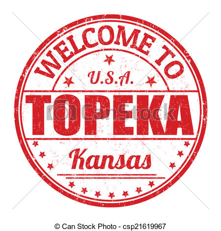 Clip Art Vector of Welcome to Topeka stamp.