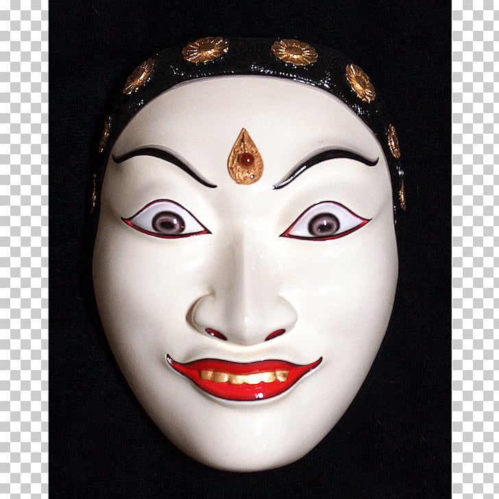 Mask Balinese people Rangda Topeng, mask PNG clipart.
