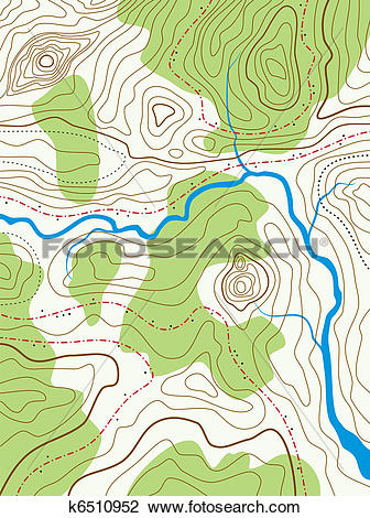 Clipart of vector abstract topographical map with no names.