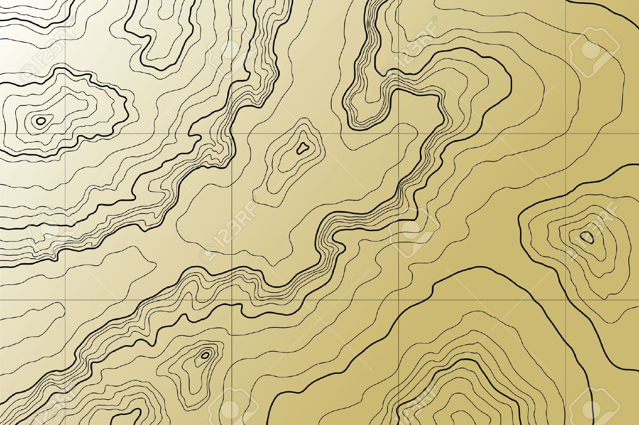 Topographic map free clipart.