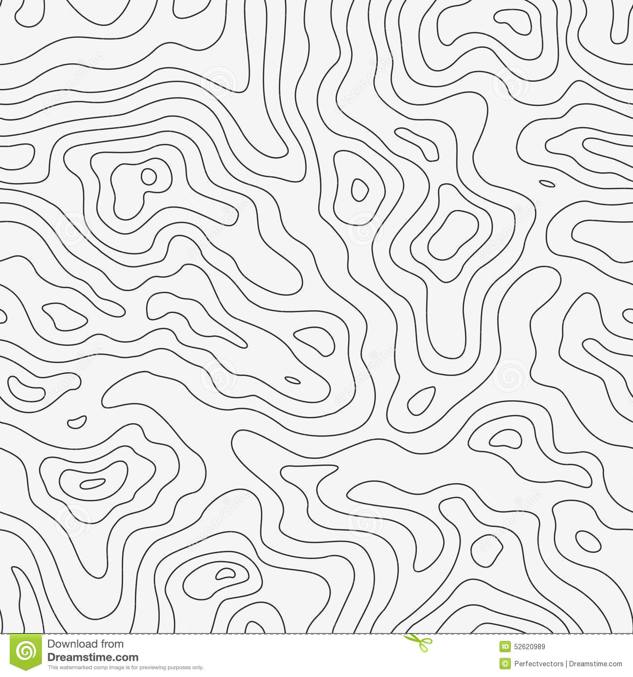 Topographic map clipart.