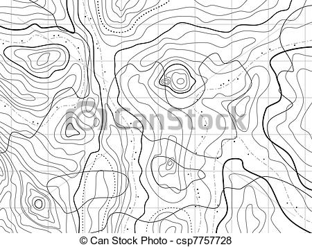 Vector of abstract topographical map with no names.