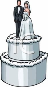 Wedding Cake Topper Clipart.