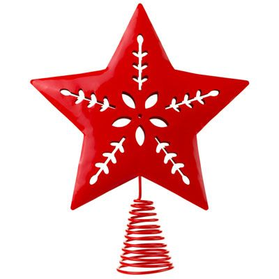 Heart christmas tree topper clipart.