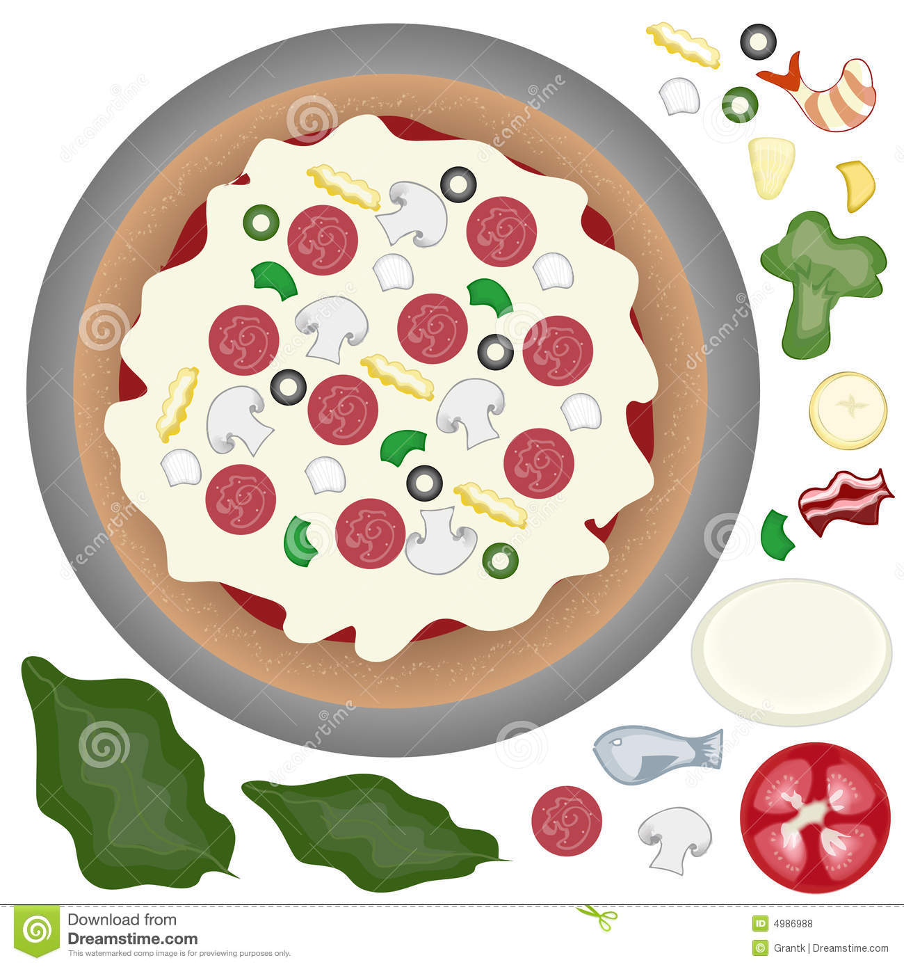 Clipart Pizza Toppings.