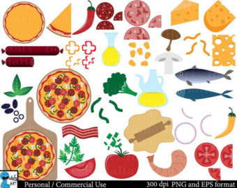 Pizza Toppings Clip Art.