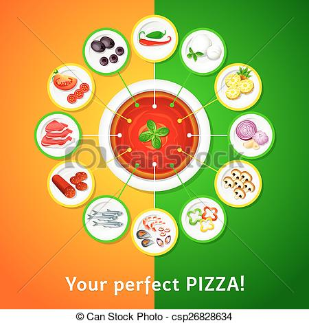 Pizza toppings Vector Clip Art Royalty Free. 664 Pizza toppings.