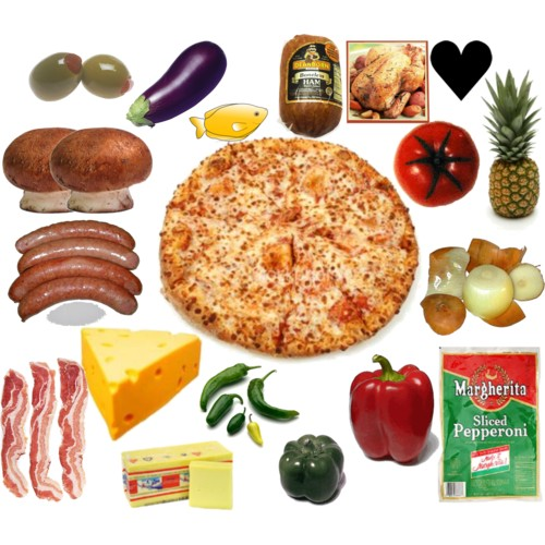 Pizza Toppings Polyvore #EjsnDg.